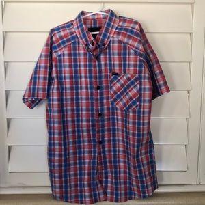 Boys Hurley Button Down Short Sleeve Shirt- Medium